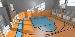 Sala gimnastyczm - wizualizacja 3