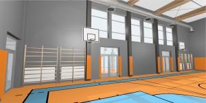 Sala gimnastyczm - wizualizacja 4